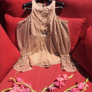 Romper Glam Event Shimmer Romper Size Small